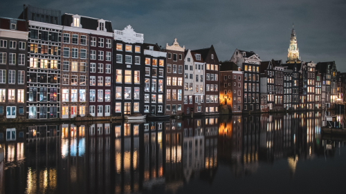 Beautiful Buildings and Water Canal