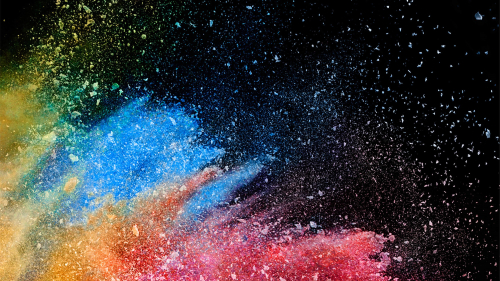 Beautiful Colorful Particles