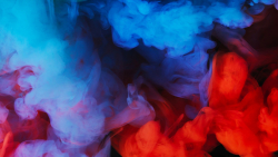 Blue and Red Smoke Abstract