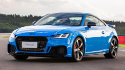 Blue Audi TT RS Coupe
