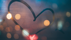 Creative Heart in Bokeh Abstract