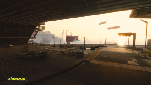 Cyberpunk 2077 Abandoned Roads in City