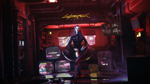 Cyberpunk 2077 Beautiful Sexy Cyborg Girl