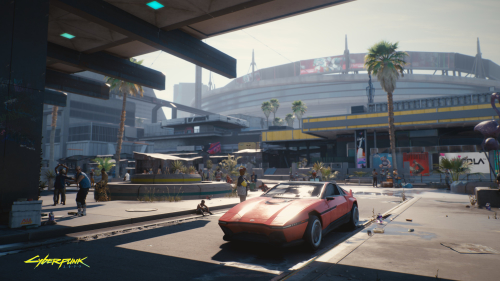 Cyberpunk 2077 Red Car in Future City