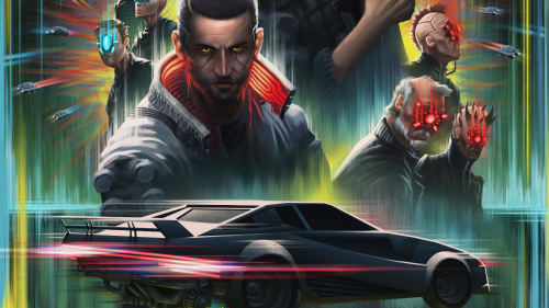 Cyberpunk 2077 V and Car