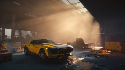Cyberpunk 2077 Yellow Car