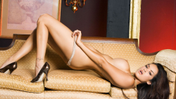 Daisy Marie Beautiful Naked Girl on Sofa