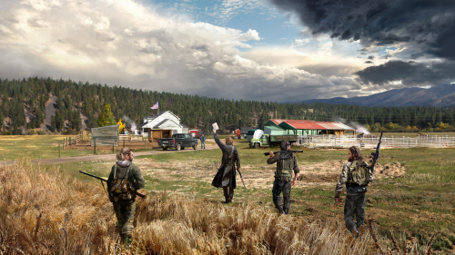 Far Cry 5 Hunters with Weapon