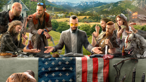 Far Cry 5 Joseph Seed with Friends