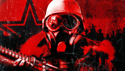 Metro 2033 Red Color on Background