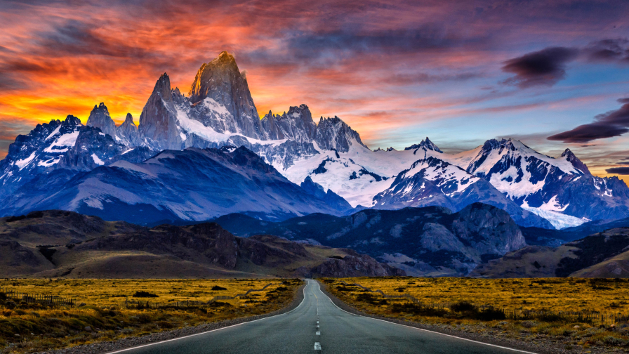 Outstanding Patagonia Road and Mountains