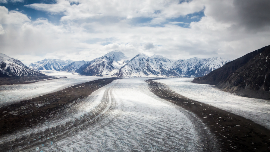 Wonderful Mountains and Ice Road