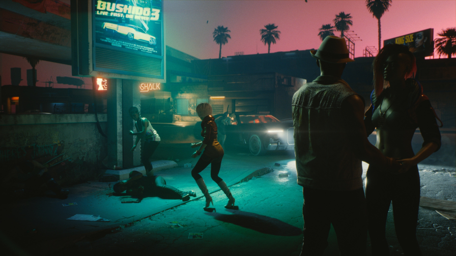Cyberpunk 2077 Night Streets