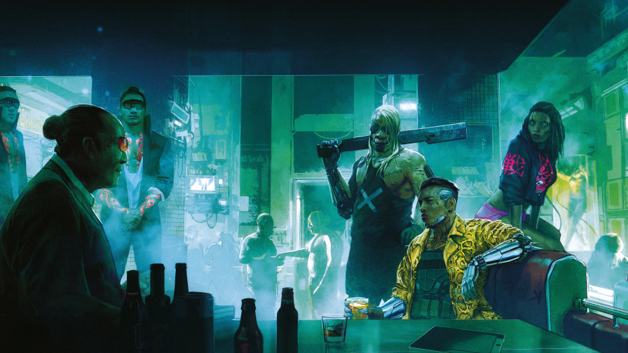Cyberpunk 2077 Squad in Bar