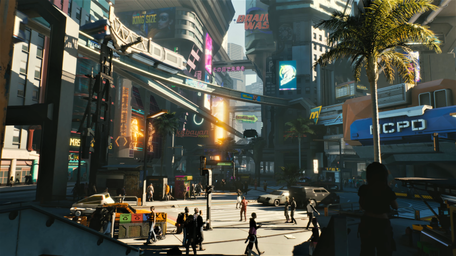 Cyberpunk 2077 Street of Future City