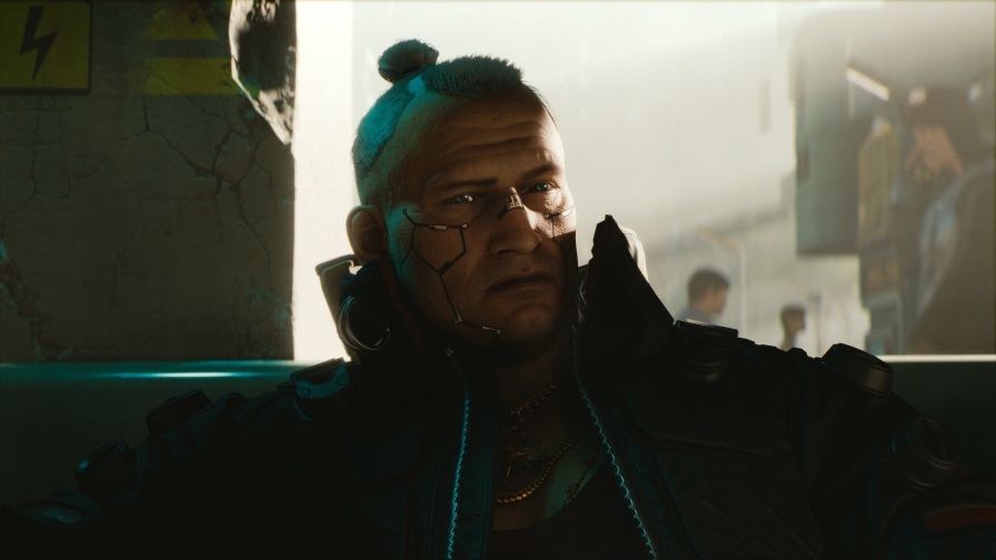 Cyberpunk 2077 Tattoo on Face