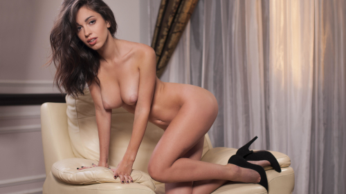 Karen Hot Sexy Naked Girl on Couch