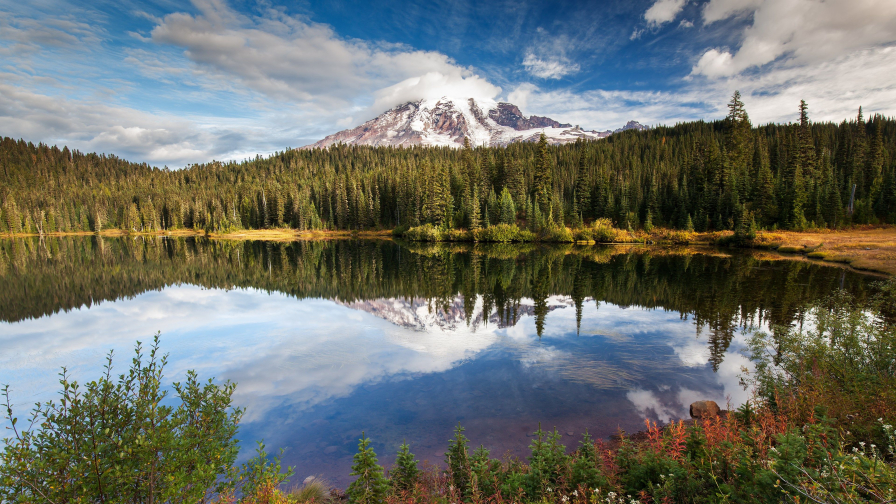 Wonderful Pure Lake in Mountain Valley